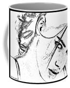 # 9 Adriana Lima Portrait. Coffee Mug