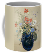 A Vase Of Blue Flowers Coffee Mug by Odilon Redon