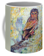 Acrylic Painting Fuzzy Yellow Owl  Coffee Mug