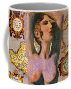 Aphrodite And Ancient Cyprus Map Coffee Mug
