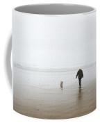 At The Beach On A Foggy Day Coffee Mug