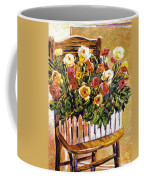 Chair Of Flowers Coffee Mug