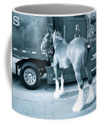 Clydesdale In Black And White Coffee Mug