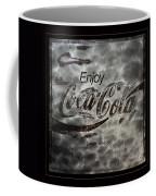 Coca Cola Sign Grungy Red Retro Style Coffee Mug