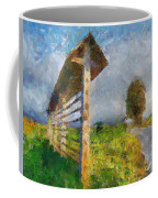 Country Road With Hayrack Coffee Mug