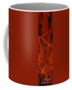 Dancing Flames 1 V - Panorama - Abstract - Fractal Art Coffee Mug