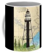 Duluth Harbor S Breakwater Inner Lighthouse Mn Nautical Chart Art Coffee Mug