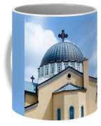 Exterior Of  Holy Trinity Gree Coffee Mug