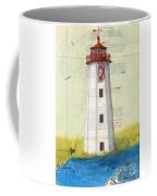 Faulkner Island Lighthouse Ct Nautical Chart Map Art Coffee Mug