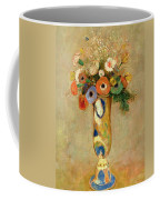 Flowers In A Painted Vase Coffee Mug by Odilon Redon