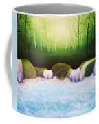 Forest Waterfall Coffee Mug