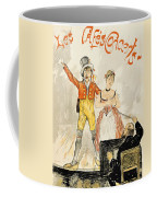 France Paris Poster Of Stage Performance At Cafe Chantant Coffee Mug