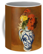 Geraniums And Other Flowers In A Stoneware Vase Coffee Mug