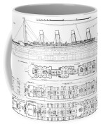 Inquiry Into The Loss Of The Titanic Cross Sections Of The Ship  Coffee Mug
