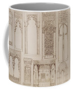 Islamic And Moorish Design For Shutters And Divans Coffee Mug by Jean Francois Albanis de Beaumont