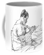 Lady On Smartphone  Coffee Mug