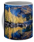 Larch Tree Reflection In Leprechaun Lake Coffee Mug