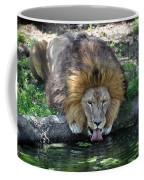 Lion Drinking Water Coffee Mug