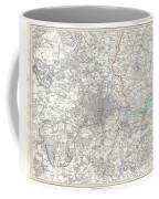 Map Of London And Environs Coffee Mug