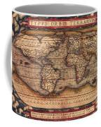 Ortelius World Map -typvs Orbis Terrarvm - 1570 Coffee Mug