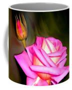 Painted Pink Rose Coffee Mug