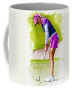 Paula Creamer Putts The Ball On The Fourth Green Coffee Mug