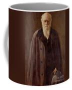 Portrait Of Charles Darwin Coffee Mug by John Collier
