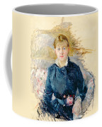 Portrait Of Louise Riesener Coffee Mug by Berthe Morisot