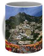 Positano Crowded Beach Coffee Mug
