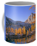Prusik Peak Behind Larch Trees Coffee Mug