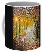 Rainy Autumn Beauty Original Palette Knife Painting Coffee Mug