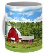 Red Farmstead In Summer Coffee Mug