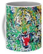 Roaring Enamel Tiger Coffee Mug
