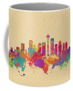 Skyline Of Seattle  Usa Coffee Mug
