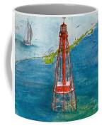 Sombrero Key Lighthouse Fl Chart Art Cathy Peek  Coffee Mug