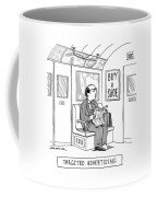 Targeted Advertising A Man Sits On The Subway Coffee Mug