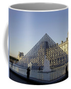 The Glass Pyramid Of The Musee Du Louvre In Paris France Coffee Mug