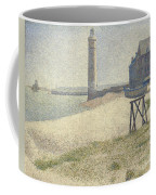 The Lighthouse At Honfleur Coffee Mug by Georges Pierre Seurat