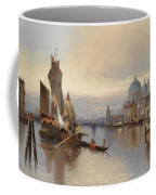 Venetian Scene With A View Of Santa Maria Della Salute Coffee Mug