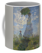 Woman With A Parasol Madame Monet And Her Son Coffee Mug by Claude Monet