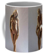Wood Sculpture Of Naked Woman Coffee Mug
