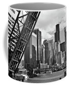 0365 North Branch Chicago River Black And White Coffee Mug