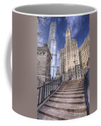 0499 Trump Tower And Wrigley Building Chicago Coffee Mug