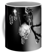 Rose And Frozen Leafs In Cold Winter Tones Coffee Mug