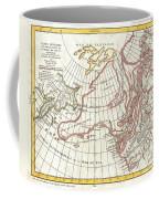 1772 Vaugondy  Diderot Map Of Alaska The Pacific Northwest And The Northwest Passage Coffee Mug