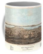 1856 Henry Bill Map And View Of San Francisco California Coffee Mug