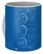 1929 Basketball Patent Artwork - Blueprint Coffee Mug