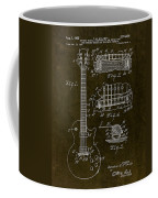 1955 Gibson Les Paul Patent Drawing Coffee Mug