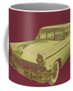 1956 Ford Custom Line Antique Car Pop Art Coffee Mug