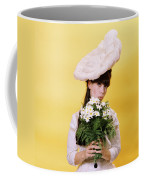 1960s Glamour Woman In White Turn Coffee Mug